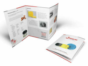 ADVAN Design brochure example for Jaco Products | Graphic Design Pricing
