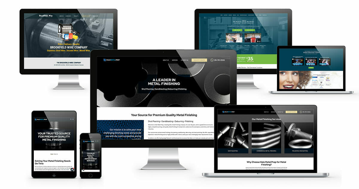 Multiple Monitors and Phones Showing ADVAN Website Design Examples