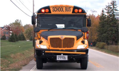 Front of a school bus | Bus driving school